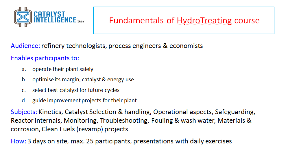 Push HydroTreater performance with training
